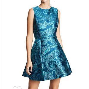 Alice and Olivia Stasia Deep Pleat Dress
